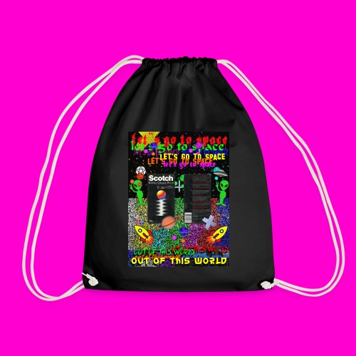 LET S GO TO SPACE - Drawstring Bag