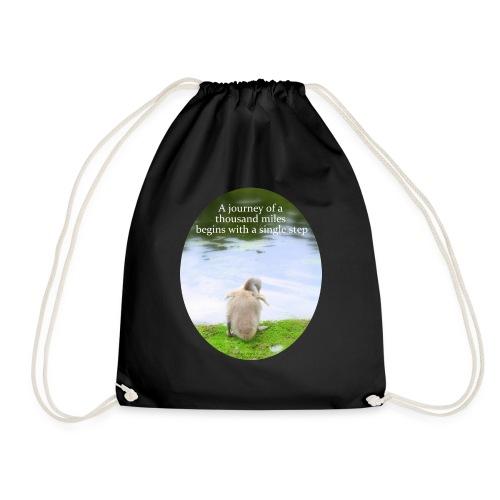 CygnetThousandMiles10mb - Drawstring Bag