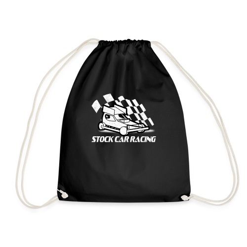 Stock Car with chequered flag - Drawstring Bag