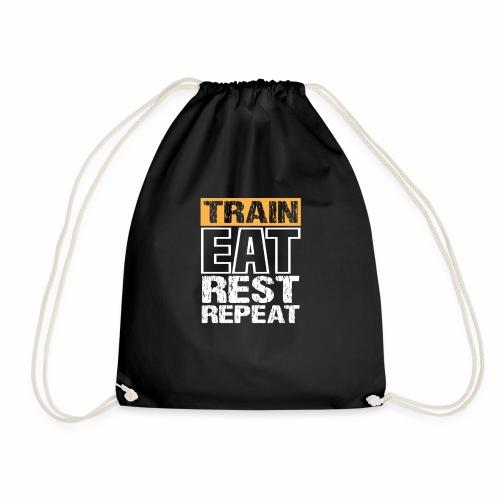 Train, Eat, Rest, Repeat - Training T-Shirt - Turnbeutel