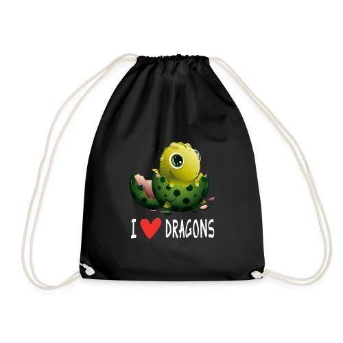 Lustiges Drachen Drache Dragon Hausdrache Geschenk - Turnbeutel