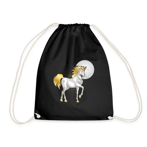 moonlight the unicorn - Drawstring Bag