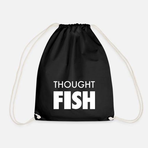 Thoughtfish font logo - Drawstring Bag