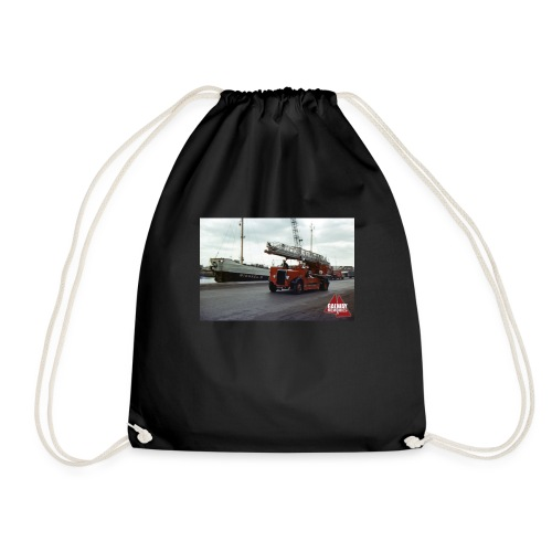 Fire Truck at Galway Docks 1970 - Drawstring Bag