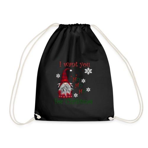 Santa Ho Ho I want you for christmas T-Shirt - Sac de sport léger