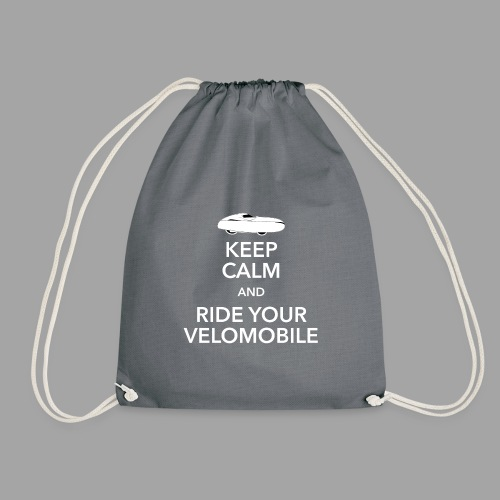 Keep calm and ride your velomobile white - Jumppakassi