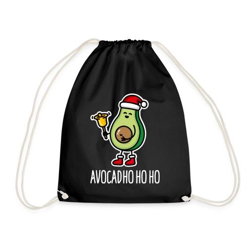 Avocad ho ho ho avocado Santa Claus pun keto diet - Drawstring Bag