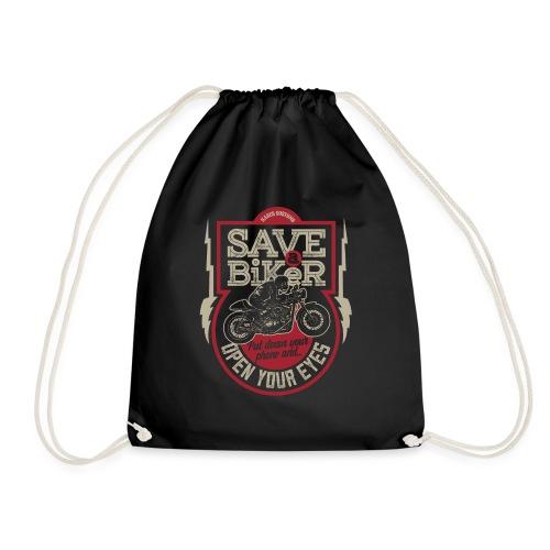 Save A Biker - Drawstring Bag