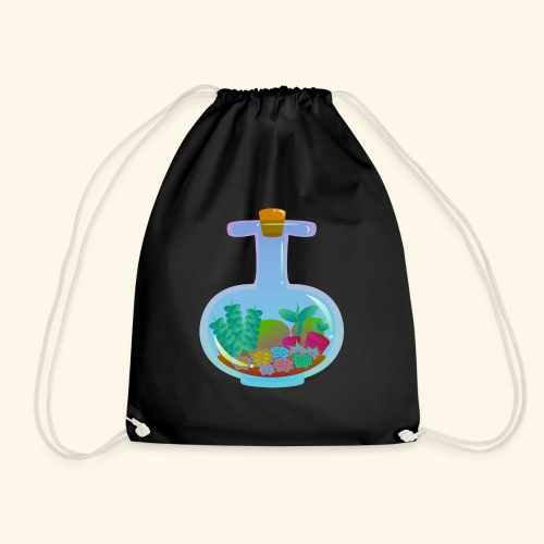 Bottled Succulents - Drawstring Bag