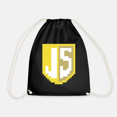 JavaScript Pixelart logo - Drawstring Bag