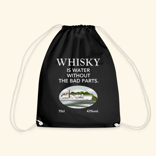 Whisky Is Water lustiger Spruch und Brennerei - Turnbeutel