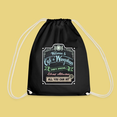 cafe de wingchun - Drawstring Bag
