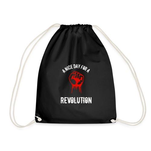 a nice day for a revolution - Drawstring Bag