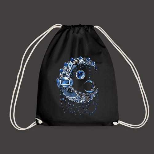 Lune dentelle bleue fonce - Sac de sport léger