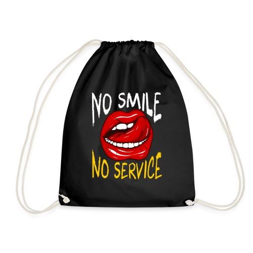 No Smile No Service - Gymnastikpåse