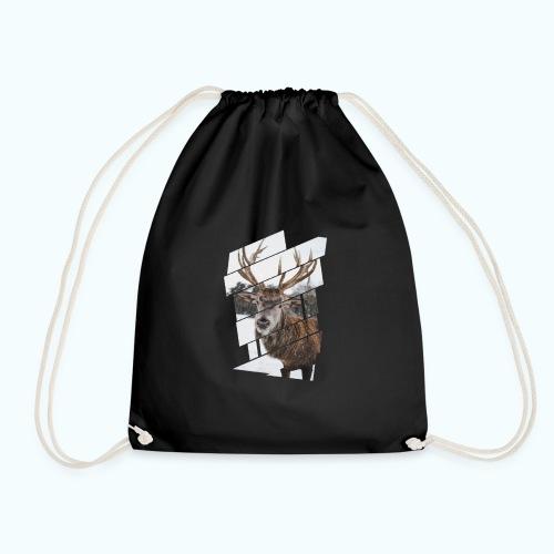 Hipster reindeer - Drawstring Bag