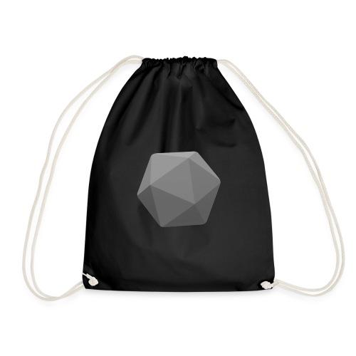 Grey d20 - D&D Dungeons and dragons dnd - Drawstring Bag