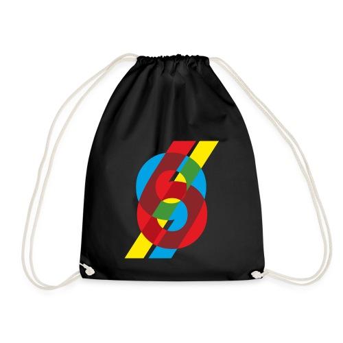 colorful numbers - Drawstring Bag