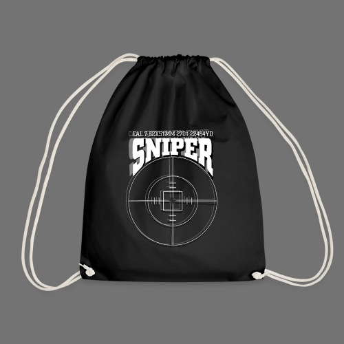 Sniper (white) - Drawstring Bag