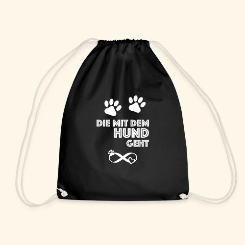 Die mit dem Hund geht - Turnbeutel