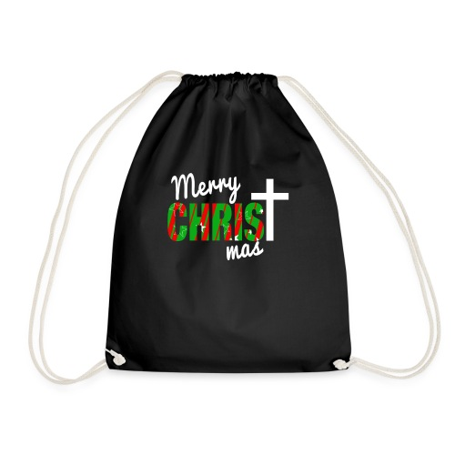 Merry Christmas Pattern - Drawstring Bag
