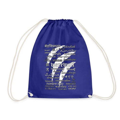 Werewolf in 33 Languages (Black Ver.) - Drawstring Bag