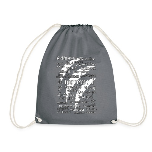 Werewolf in 33 Languages (Black Ver.) - Drawstring Bag