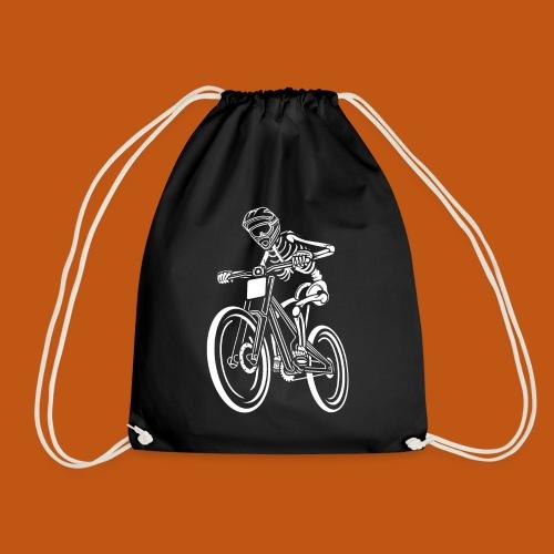 BMX / Mountain Biker 04_weiß - Turnbeutel
