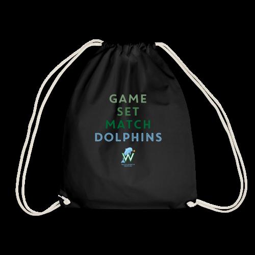 Game Set Match Dolphins - Turnbeutel