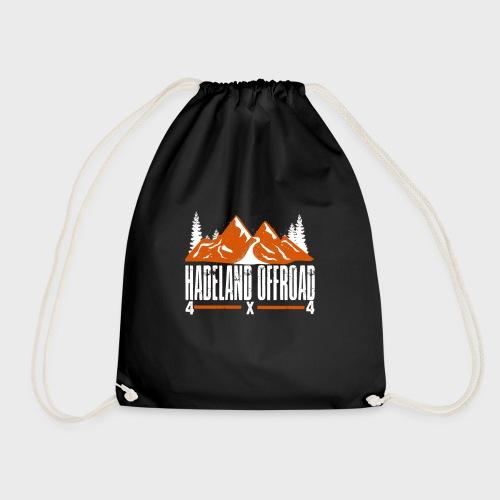Hadeland Offroad Stor Logo Hvit - Gymbag