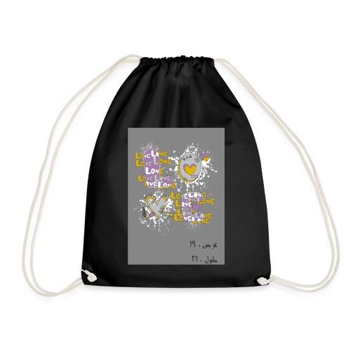 Love heart - Drawstring Bag