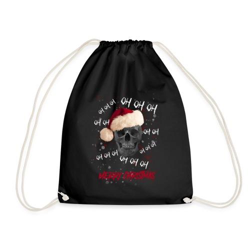 Weihnachtsmann-Schädel - Turnbeutel