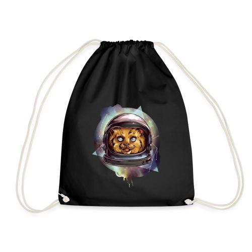 Cute astronaut kitten - Drawstring Bag