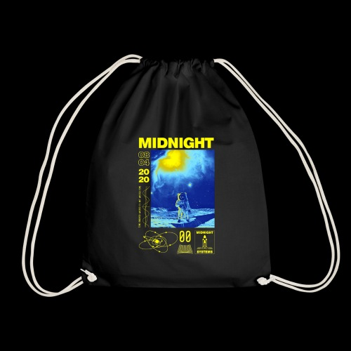 Midnight Astronaut Electric Yellow - Drawstring Bag