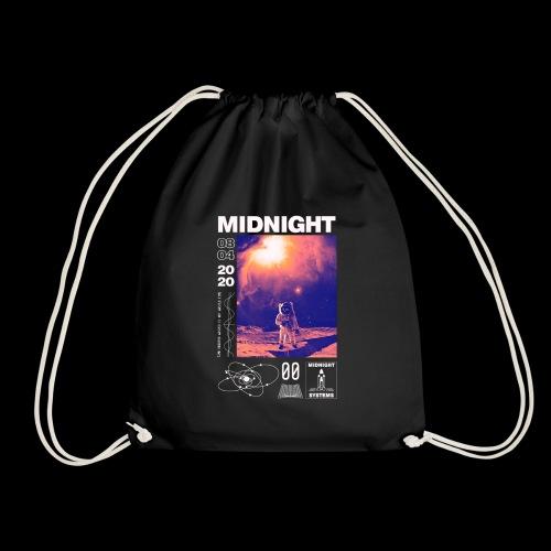 Midnight Astronaut Cosmic Pink - Drawstring Bag