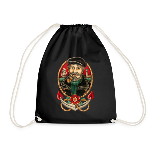 SEA CAPTAIN TATTOO - Drawstring Bag