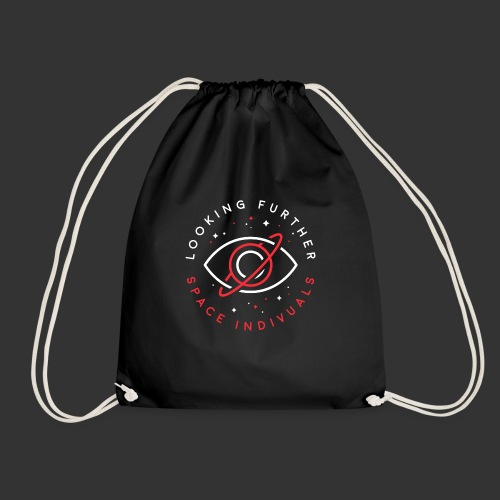 Space Individuals - Looking Farther Black - Drawstring Bag