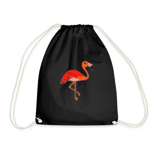 Flamingo - orange-rot - Turnbeutel