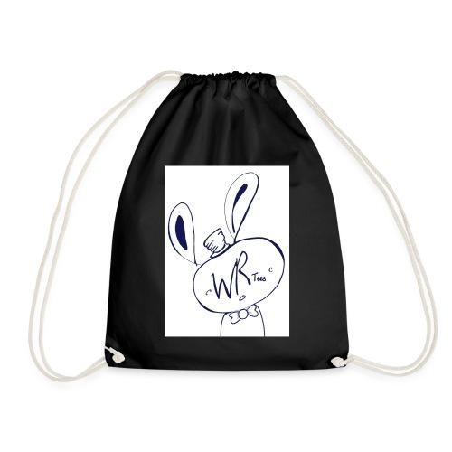 WhiteRabbitTees logo - Drawstring Bag