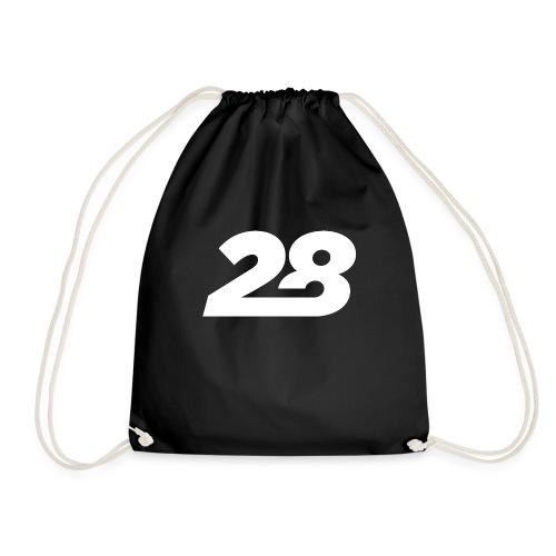 28 White - Drawstring Bag