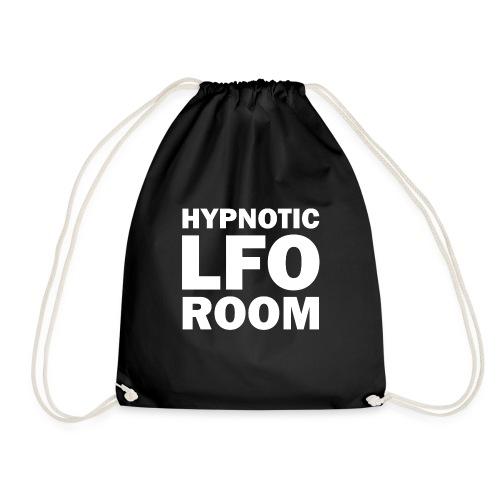 The Hypnotic Lfo Room White Logo - Drawstring Bag
