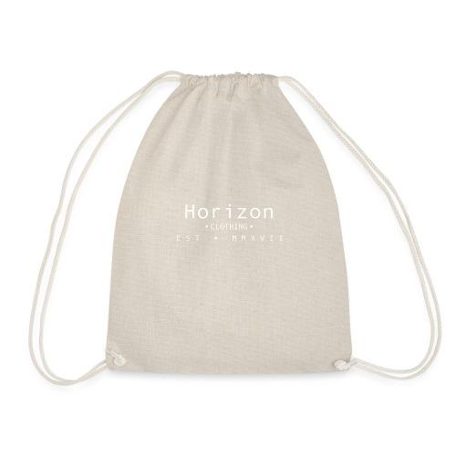 White Horizon Logo - Drawstring Bag