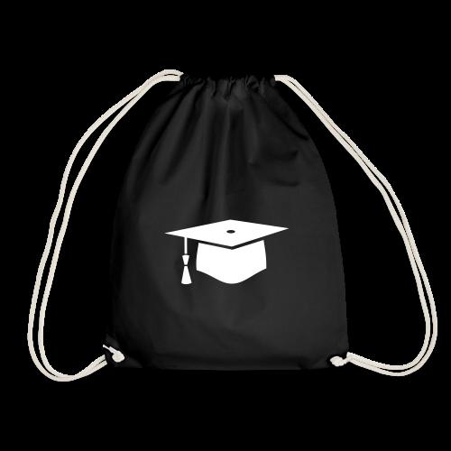 einfacher Doktorhut - Geschenk zur Doktorarbeit - Turnbeutel