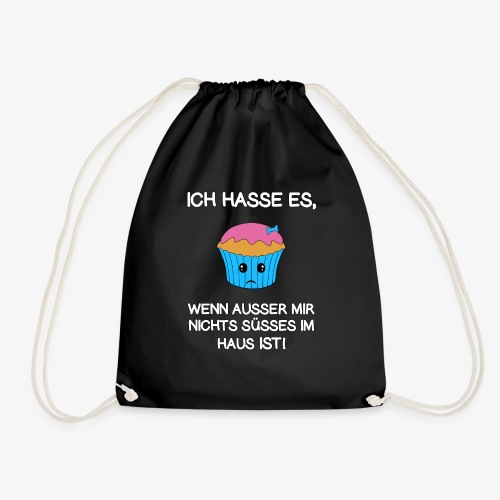 AUSSER MIR NICHTS SÜSSES IM HAUS. Geschenkidee - Turnbeutel