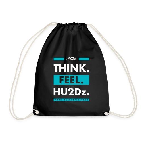 THINK FEEL HU2Dz White (Black Shirt) - Drawstring Bag