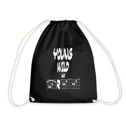 Young wild and free in guitar chords - Drawstring Bag