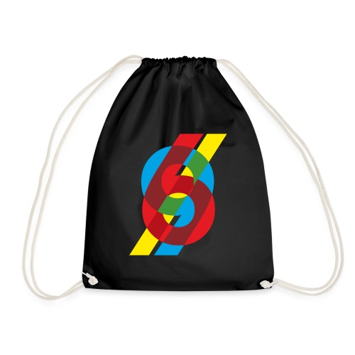 colorful numbers - Drawstring Bag