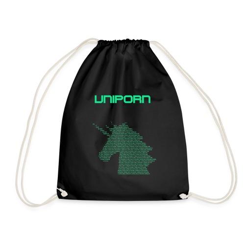 UNIPORN Einhorn Unicorn Buntmensch Geschenkidee - Turnbeutel