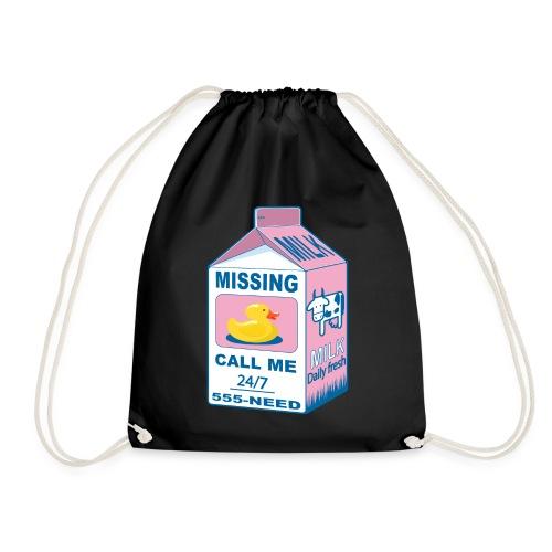 Missing: rubber duck! - Drawstring Bag