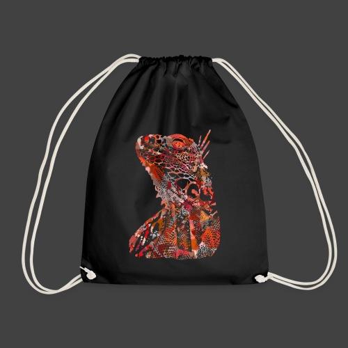 LIZARD1 - RED - Drawstring Bag